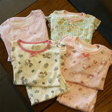 Japanese Children's Clothing Spring and Autumn New Kids'Lovely Babies, Children's Home Dresses and Nightwear Suits
