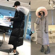 韩版2018新款反季冬装加厚羽绒棉服女装学生过膝长款棉服棉衣外套