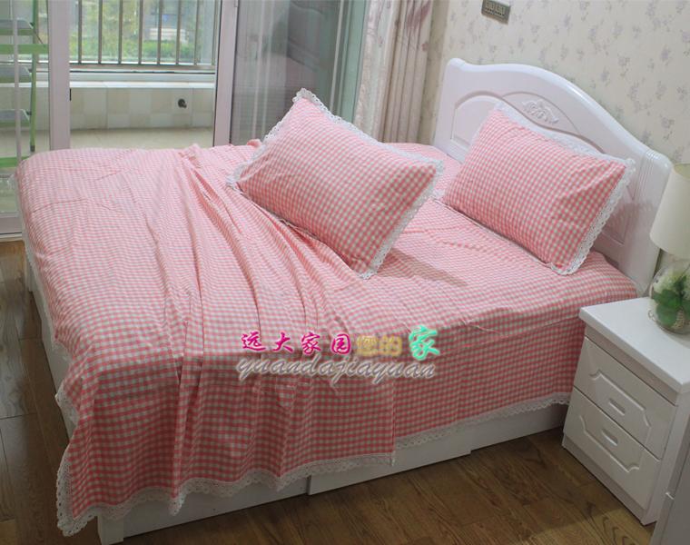 老粗布纯棉床单床笠被套定制