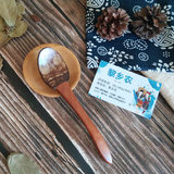 Hainan small coconut shell spoon spoon creative wooden spoon small rice spoon honey spoon dessert spoon children tableware household