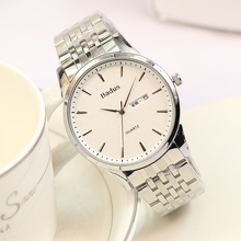 A New Type of Leisure Couple Watch Quartz Watch for Plating in 2009 Men's Waterproof Steel Belt Waterproof Student Watch Calendar Watch Watch for Women