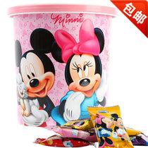 零食大礼包都市丽人粉色礼盒大桶装迪士尼曲奇饼干天天特价