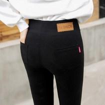 高个子女装170-175春秋 薄款加长版打底裤超长外穿薄绒高腰小脚裤