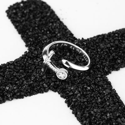 《愁容骑士》s925纯银佩剑开口戒指女男活口情侣一对戒个性礼物