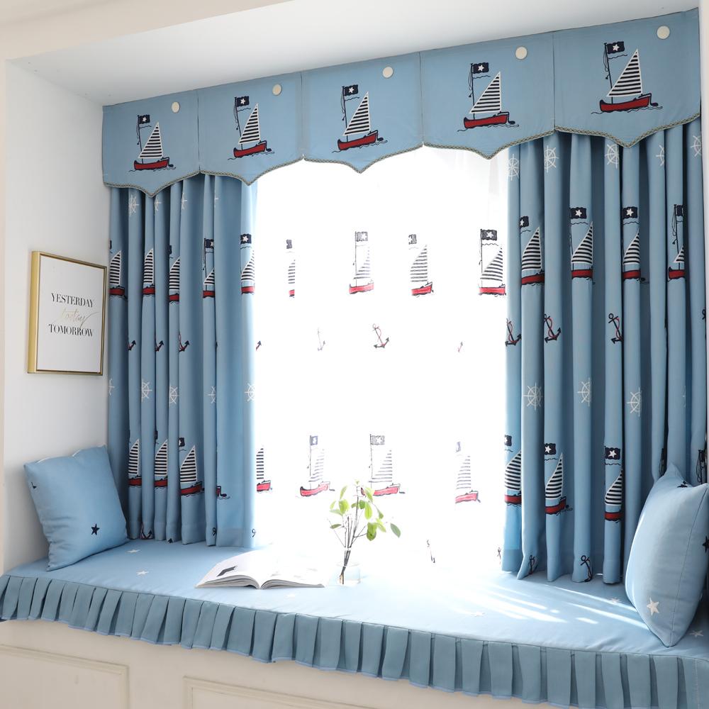地中海窗帘儿童房