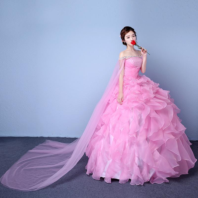 婚纱粉色结婚