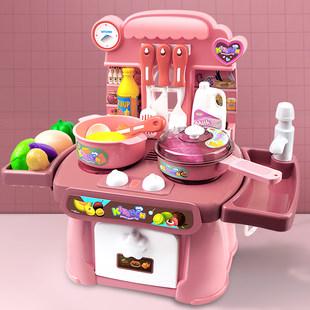 仿真厨房过家家宝宝玩具女孩做饭2煮饭4炒菜6烧饭儿童套装女童3岁