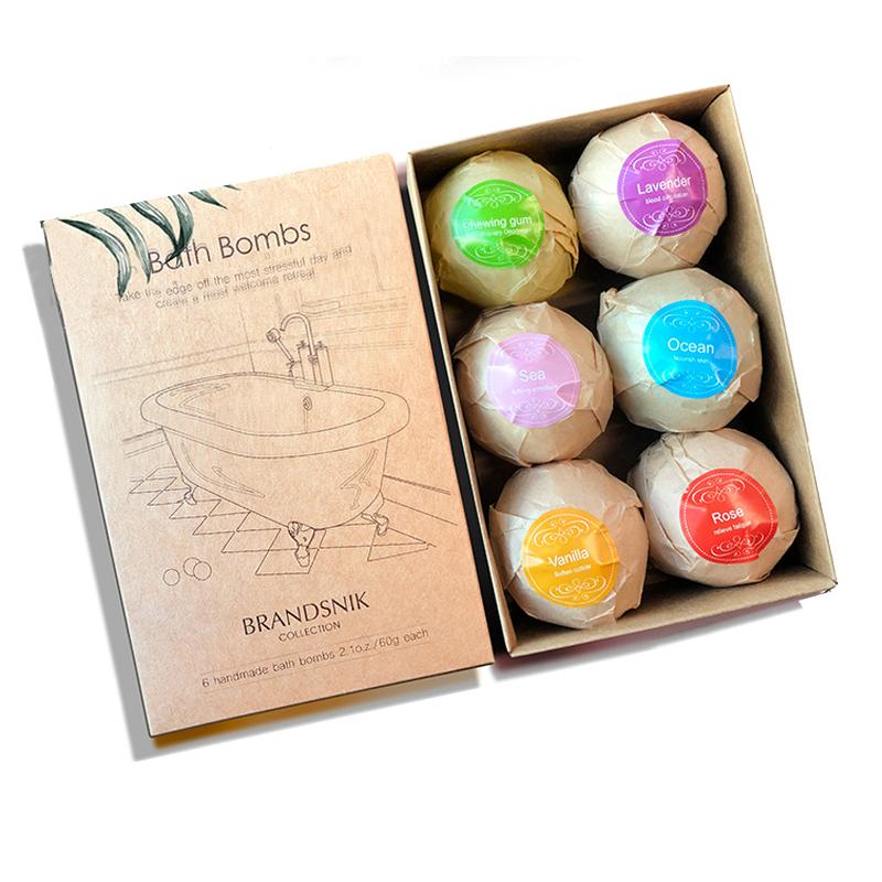 泡澡精油球星空泡澡气泡弹SPA沐浴盐球爆炸彩色球浴缸沐浴球套装2