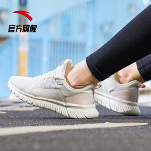 安踏女鞋男鞋跑步鞋2019秋季新款网面透气运动鞋休闲鞋樱花旅游鞋