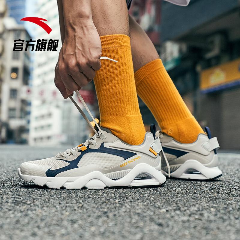 安踏男鞋老爹鞋 2019新鞋款夏季休闲鞋透气潮流复古鞋子 运动鞋男