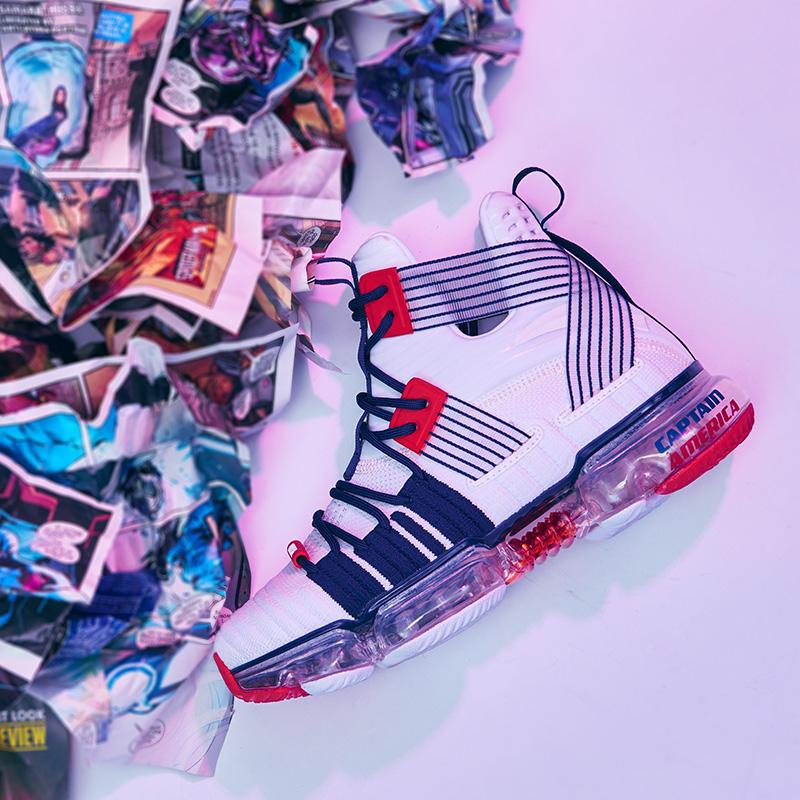 安踏御空2019女鞋漫威联名款美队蜘蛛侠非实战篮球文化潮鞋运动鞋