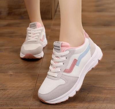 蘑菇街明星同款女鞋学生鞋厚底松糕运动鞋女休闲鞋韩版中大童学生