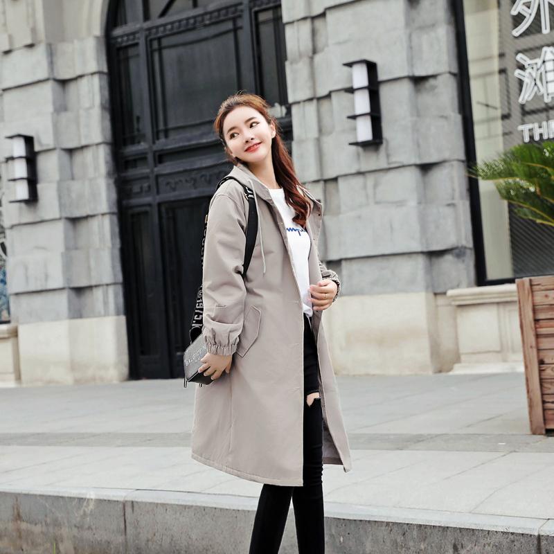 韩国加厚风衣
