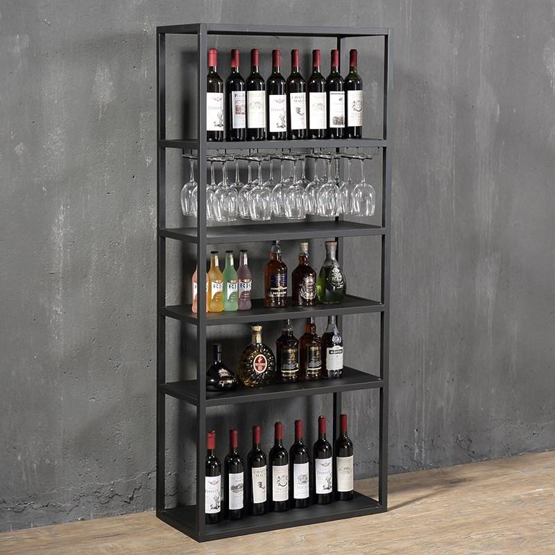 欧式酒架落地红酒展示架客厅酒柜美式铁艺吧台装饰置物架酒杯架子