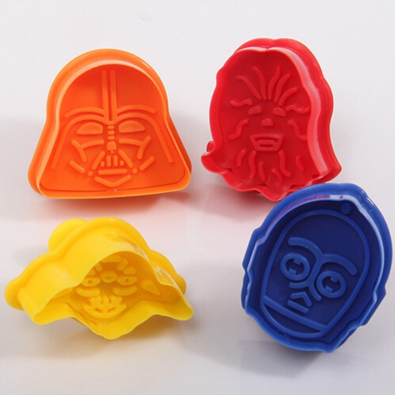 4 pcs /set Star Wars Set Cake Cookie Cutter Silicone Moulds