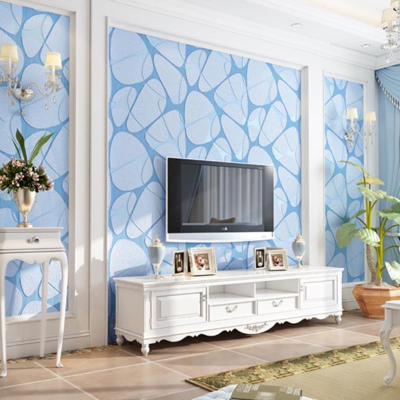画立体卧室墙纸北欧风无纺布家用个性什么样的欧式现代背景墙电视