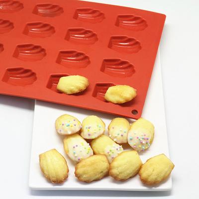 迷你玛德琳贝壳硅胶蛋糕模具雅各焙烘培模具不沾烤箱用9连模具正品热卖