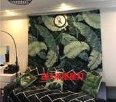北欧印花芭蕉叶挂布墙面背景装饰画布挂毯壁毯墙壁毯艺术挂布ins