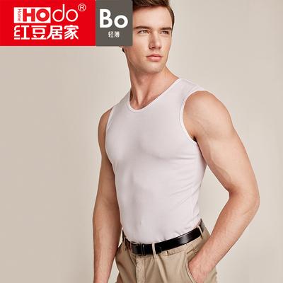 红豆男士透气莫代尔弹力背心中青年薄款内衣无袖紧身舒适打底衫男