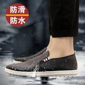 厨师鞋 防水防滑防油工作鞋 韩版 夏季厨房皮鞋 男士 水鞋 时尚 低帮雨鞋