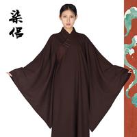 尚远七侣系列台湾麻纱透气海青居士服三色可选僧服男女同款海清