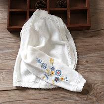 女童披肩长袖外套夏季百搭纯棉婴儿空调服宝宝镂空针织开衫薄款