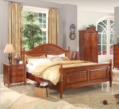 欧式实木床组合1.5米1.8米北欧新古典卧室双人床奢华型居家婚床多少钱