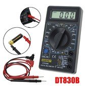 LCD DT-830B Electric Voltmeter Ammeter Ohm Tester AC/DC 750/