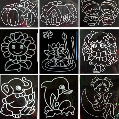 Colorful Drawing Toys Scratch Art Paper Magic Painting Paper