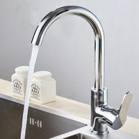 Kitchen sink, hot and cold faucet, full copper body, single cold 304 stainless steel sink, laundry pool, basin faucet