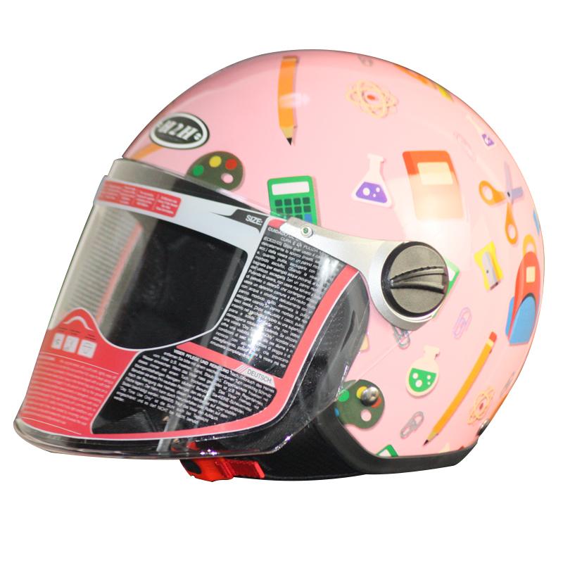 高档头盔头盔头盔卡丁车汽车头盔半盔儿童摩托车电动车出口欧洲h2
