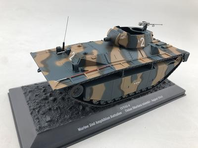 1/43 LVT(A)-4两栖坦克 美国轻型坦克 合金成品 坦克模型
