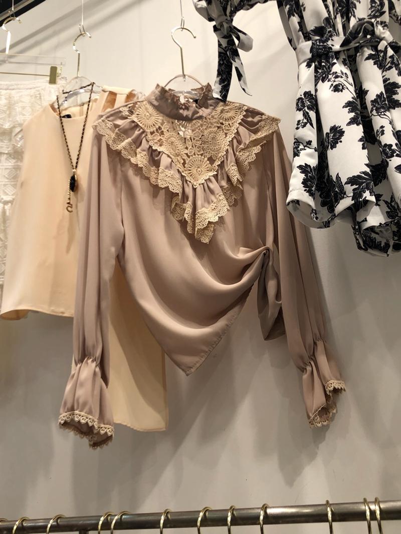 八07韩国正品夏装夏季新款时尚韩版上衣衬衫蕾丝衫253807