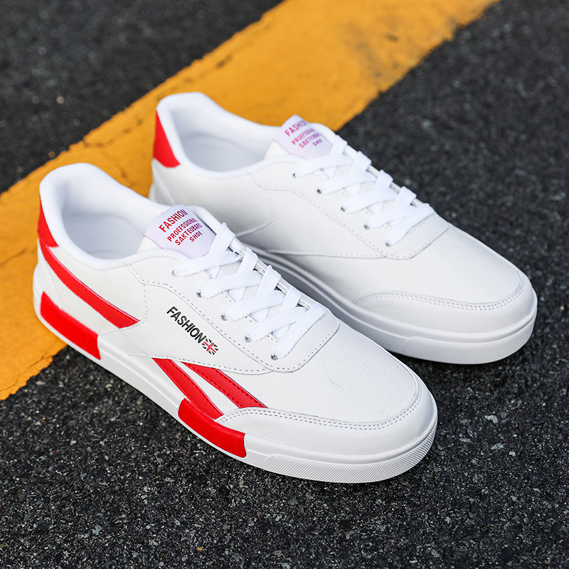 乔丹aj小白鞋男鞋特大鞋帆布鞋45韩版板鞋46加大号47加肥休闲潮鞋