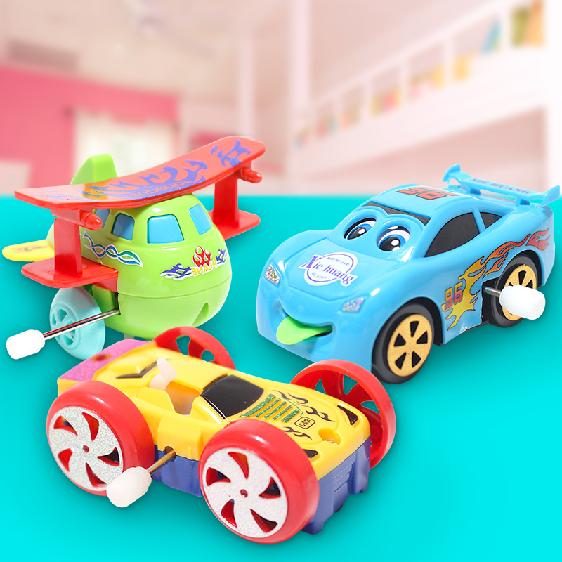Cartoon fun transport type wind-up multi-piece toy that will run