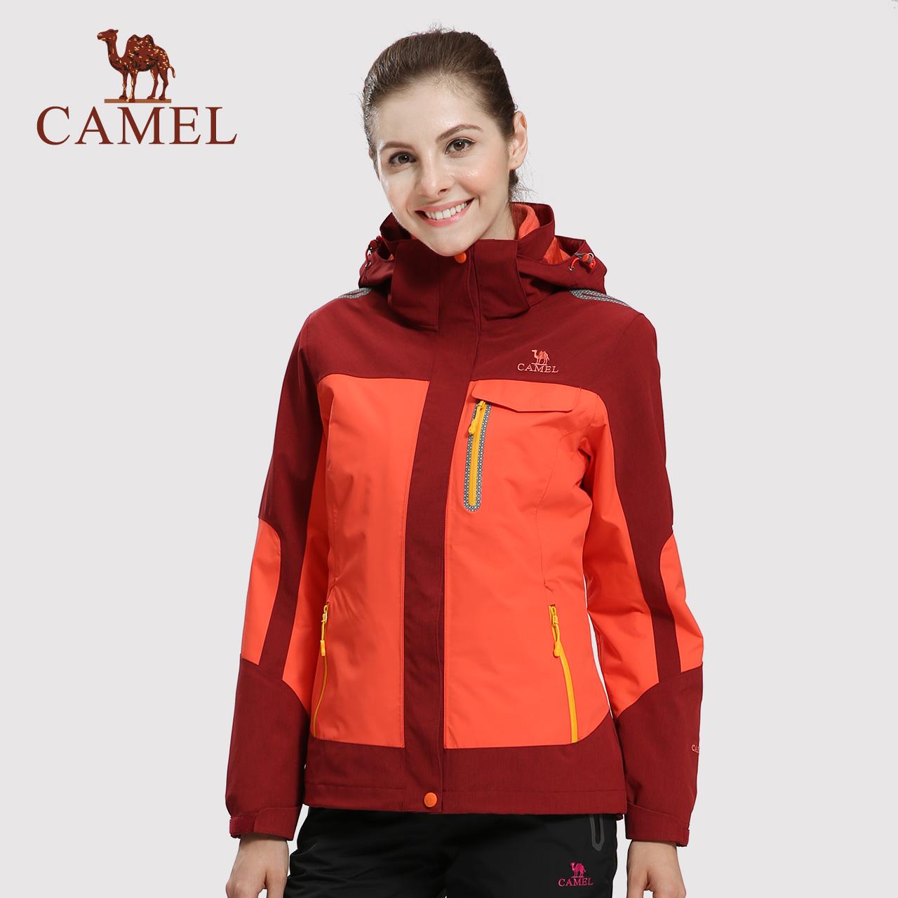 CAMEL骆驼户外 冲锋衣 女款 防风防水两件套三合一冲锋衣 登山服