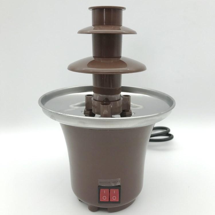 迷你DIY巧克力喷泉机瀑布熔浆机融化塔带加热家用儿童活动 包邮