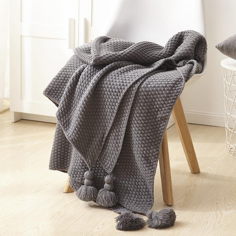 沙发毯北欧