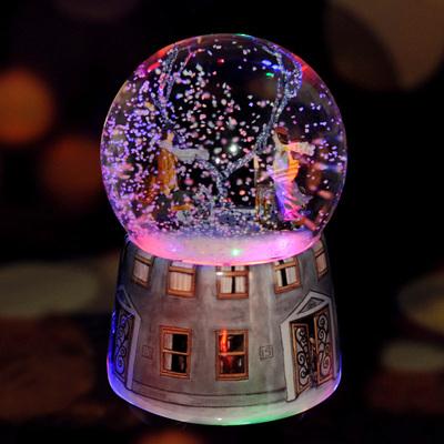 几米相遇飘雪花水晶球音乐盒八音盒情人节生日礼物送男女朋友礼物