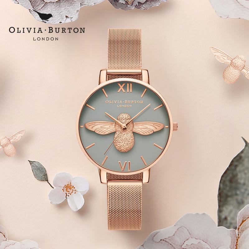 OliviaBurton女士手表小蜜蜂正品简约礼物石英腕表ob英国小众手表