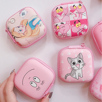 Cute cartoon multifunctional storage headset storage Box Mini portable cable charging cable Digital storage bag