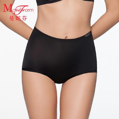 曼妮芬优雅无痕高腰低角裤 女士三角裤 舒适包臀内裤女QC