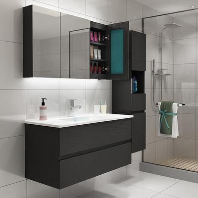 TOTO浴室柜卫浴组合洗手盆柜洗脸盆卫生间洗漱台简约现代黑白色