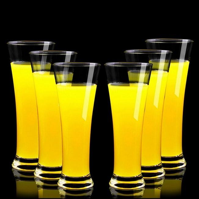 果汁杯啤酒杯套装家用玻璃杯奶茶杯牛奶杯饮料杯创意水杯