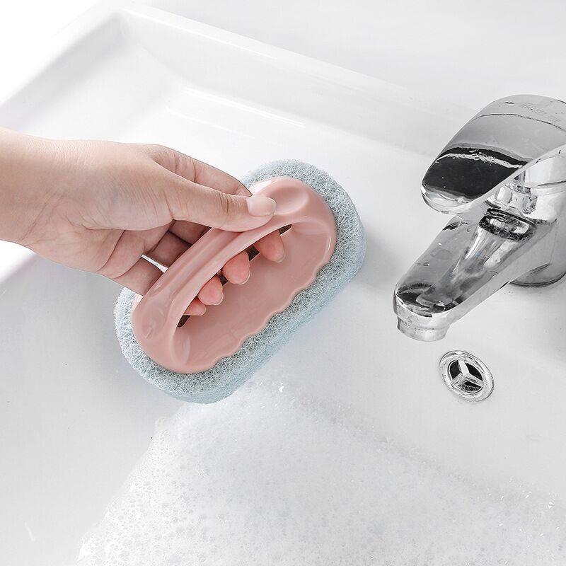 2018新款海绵带柄清洁刷手柄卫浴海棉除尘搞浴缸卫生清洗工具瓷砖