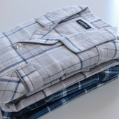 秋冬季全棉磨毛绒布男士纯棉长袖格子睡衣套装纯棉男生休闲家居服
