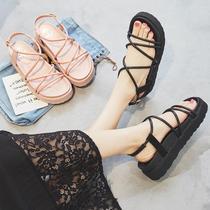 香港潮牌复古方头鞋秋季粗跟女鞋低跟浅口鞋工作鞋黑色套脚单鞋简