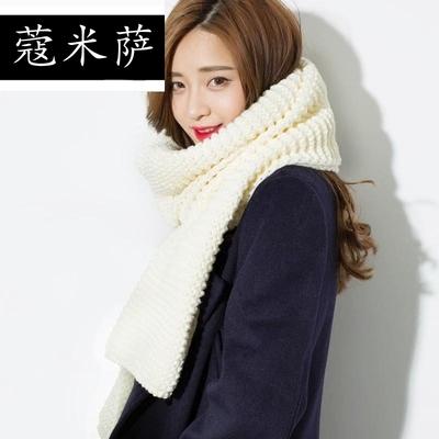 秋新款韩版粗毛线针织围巾女冬季韩国加厚超长款男学生情侣围脖披