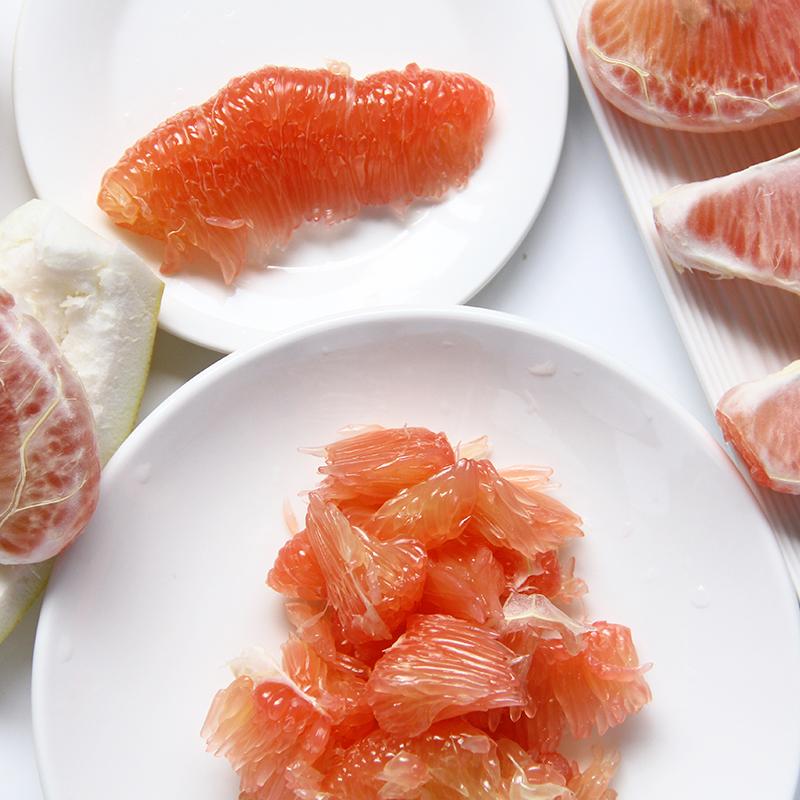 整箱8个泰国红心柚  青皮红柚子甜柚子去火孕妇水果新鲜进口水果