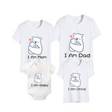 Culbutomind family parent-child dress cartoon animal baby triangle hae-sleevet t-shirt